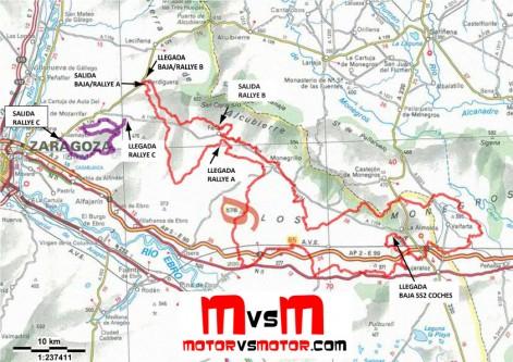 Mapa General Rallye Más Baja España Aragón 2012