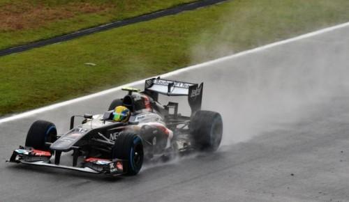 Esteban Gutiérrez bajo la lluvia de Sepang