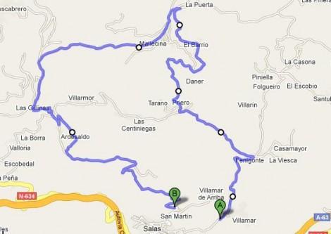 Recorrido Rally Viso 4 y 5 de Mayo 2013