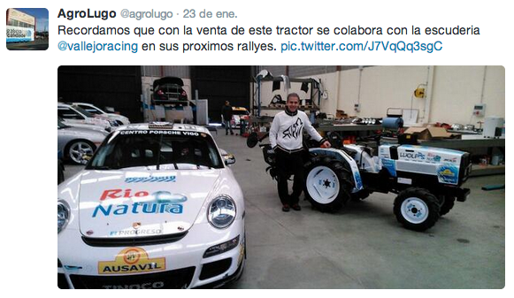 Detalle promo venta mini-tractor Vallejo Racing Agrolugo