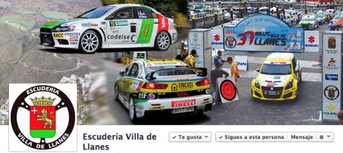 Perfil oficial Facebook Escudería Villa de Llanes