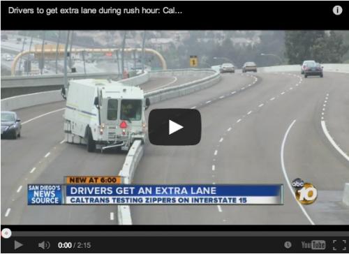 Enlace a vídeo: mover una mediana de hormigón en una carretera… ya lo han hecho en California