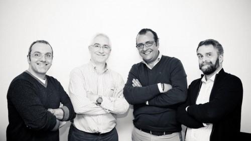 Carlos Barazal, Carlos Enríquez de Salamanca, Fernando González y Ramón Biosca