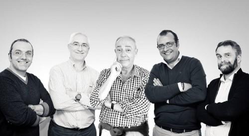 Carlos Barazal, Carlos Enríquez de Salamanca, Antonio Boto, Fernando González y Ramón Biosca