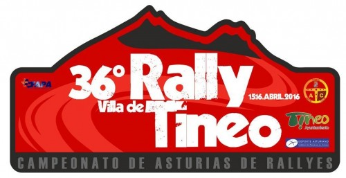 Placa 36 Rally villa de Tineo 2016