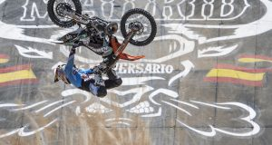 Levi Sherwood of New Zealand performs at the first training of the Red Bull X-fighters in Madrid, Spain on June 23, 2016. // Predrag Vuckovic/Red Bull Content Pool // P-20160623-14392 // Usage for editorial use only // Please go to www.redbullcontentpool.com for further information. //